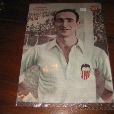 Coleccionismo deportivo: ALVARO DEFENSA DERECHO DEL VALENCIA LAMINA DEL MARCA. Lote 11449933