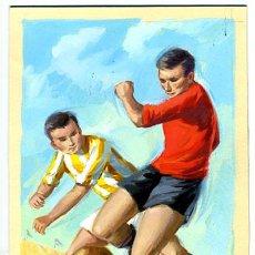 Coleccionismo deportivo: FUTBOL ,ORIGINAL PINTADO A MANO , ORIGINAL DE PROGRAMA O DE CARTEL. Lote 19249240