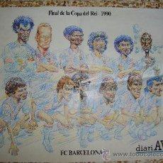 Coleccionismo deportivo: POSTER CARICATURAS JUGADORES FC BARCELONA 1990. Lote 11679978