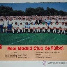 Coleccionismo deportivo: REAL MADRID : MINIPÓSTER DE LA TEMPORADA 88-89. Lote 27483453