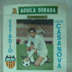 Coleccionismo deportivo: CARTEL DE FUTBOL - LIGA 1ª DIVISION - VALENCIA C.F. - REAL MADRID, ATH. BILBAO, AÑO 1974 - PLANELLES. Lote 21337717