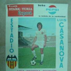 Coleccionismo deportivo: CARTEL DE FUTBOL - LIGA 1ª DIVISION - VALENCIA C.F. - F.C. BARCELONA, AÑO 1971. Lote 21337720