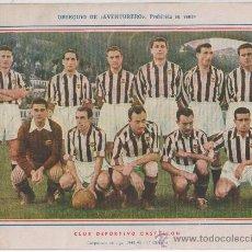 Coleccionismo deportivo: LAMINA POSTER DEL CLUB DEPORTIVO CASTELLON FUTBOL 1945-46 OBSEQUIO DE AVENTURERO . Lote 14395679
