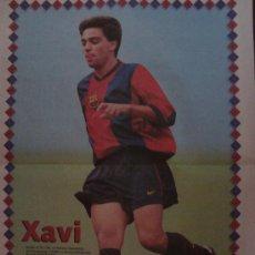 Coleccionismo deportivo: POSTER F.C. BARCELONA : XAVI 1998. Lote 24117551