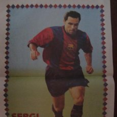 Coleccionismo deportivo: POSTER F.C. BARCELONA : SERGI 1998. Lote 24117555