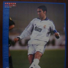 Coleccionismo deportivo: POSTER REAL MADRID : RAUL 2000-01. Lote 26530407