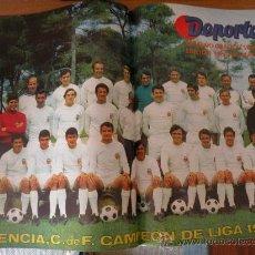 Coleccionismo deportivo: POSTER ESPECIAL ROTATIVO DEPORTES, VALENCIA CAMPEON LIGA 1970-71. ¡, COMO NUEVO!. Lote 26395822