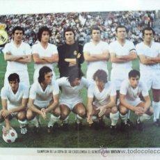 Coleccionismo deportivo: CARTEL POSTER-FICHA REAL MADRID ,CAMPEON DE LA COPA EL GENERALISIMO 1973-74. Lote 19166129