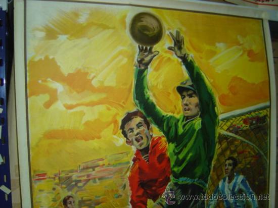 Coleccionismo deportivo: PRECIOSO CARTEL GRANDE DE FUTBOL - SIN IMPRIMIR - AÑO 1963 LITOGRAFIA - Foto 3 - 165042693