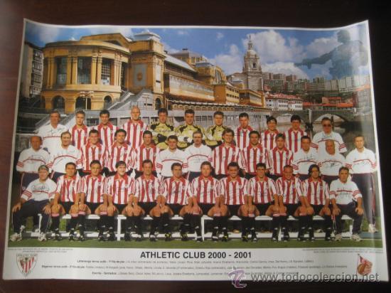 POSTER FUTBOL ATHLETIC DE BILBAO 2000-2001 (FIRMADO) (Coleccionismo Deportivo - Carteles de Fútbol)