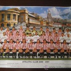 Coleccionismo deportivo: POSTER FUTBOL ATHLETIC DE BILBAO 2000-2001 (FIRMADO) . Lote 15102606