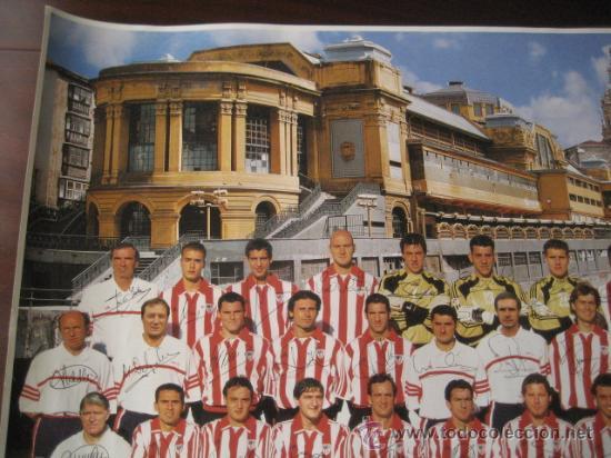 Coleccionismo deportivo: Poster Futbol ATHLETIC de BILBAO 2000-2001 (Firmado) - Foto 2 - 15102606