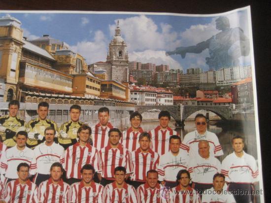 Coleccionismo deportivo: Poster Futbol ATHLETIC de BILBAO 2000-2001 (Firmado) - Foto 3 - 15102606