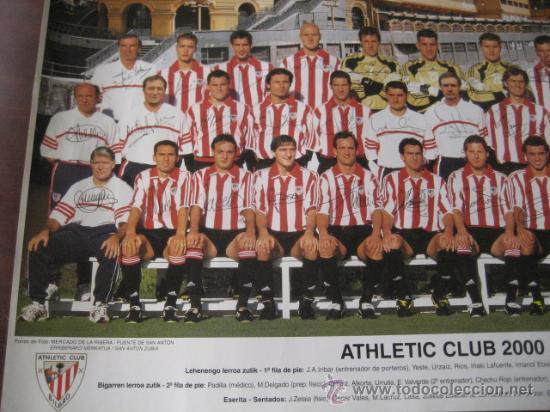 Coleccionismo deportivo: Poster Futbol ATHLETIC de BILBAO 2000-2001 (Firmado) - Foto 4 - 15102606