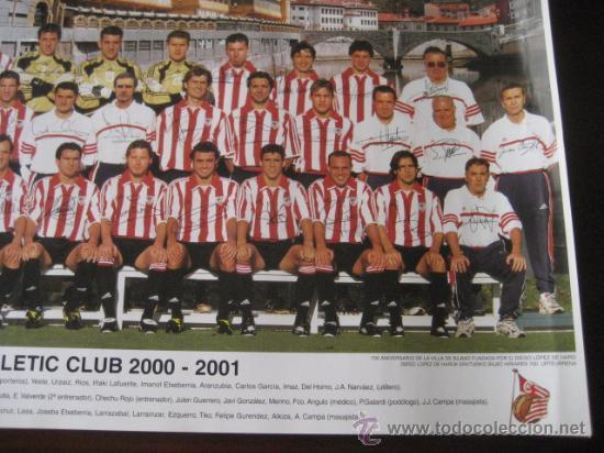 Coleccionismo deportivo: Poster Futbol ATHLETIC de BILBAO 2000-2001 (Firmado) - Foto 5 - 15102606