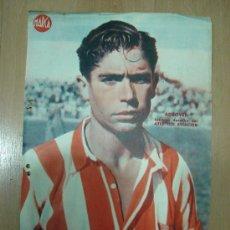 Coleccionismo deportivo: CARTEL DE FUTBOL MARCA. FUTBOLISTA ADROVER EXTREMO DERECHA DEL ATLETICO AVIACION. Lote 15194172