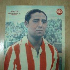 Coleccionismo deportivo: CARTEL DE FUTBOL MARCA. FUTBOLISTA MILLAN DEFENSA DERECHA DEL GRANADA. Lote 15201657