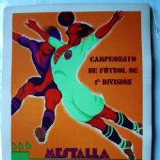 Coleccionismo deportivo: CARTEL FUTBOL MESTALLA - AÑO 1931 - REAL MADRID - LITOGRAFIA. Lote 113009498