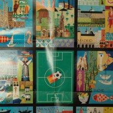 Coleccionismo deportivo: CARTEL SEDES DEL MUNDIAL DE FUTBOL ESPAÑA 82. Lote 25612319