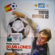 Coleccionismo deportivo: CARTEL LOTERIA NACIONAL - SORTEO EXTRA MUNDIAL 82. Lote 16175770