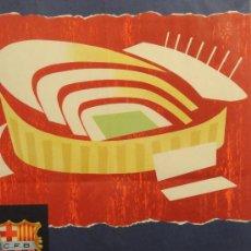 Coleccionismo deportivo: CARTEL DE LA INAUGURACIÓN DEL ESTADIO DEL CF BARCELONA. AÑO 1957 (ORIGINAL NO COPIA). Lote 16316390