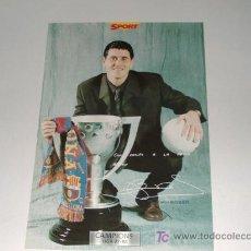 Coleccionismo deportivo: FOTO POSTER CAMPIONS 97-98 BARSA(10). Lote 27161667