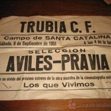 Coleccionismo deportivo: TRUBIA C.F. CAMPO SANTA CATALINA SELECCION AVILES-PRAVIA 8 DE SEPTIEMBRE DE 1951. Lote 22886486