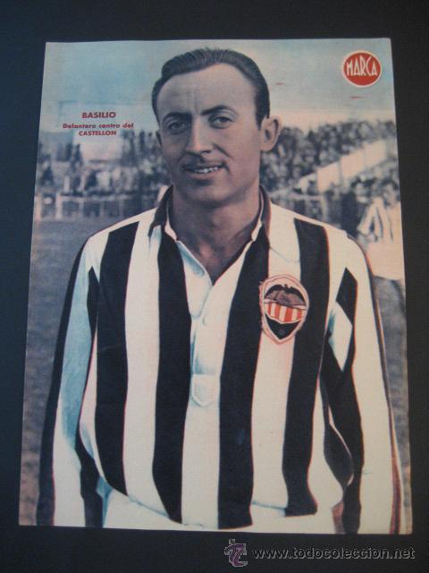 ANTIGUO CARTEL POSTER DE LA REVISTA MARCA. BASILIO CASTELLON. (Coleccionismo Deportivo - Carteles de Fútbol)