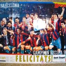 Coleccionismo deportivo: FC BARCELONA CAMPEON RECOPA 96/97 - POSTER DIARIO SPORT. Lote 17603097