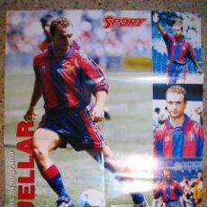 Coleccionismo deportivo: CUELLAR - FC BARCELONA - POSTER DIARIO SPORT. Lote 17603120