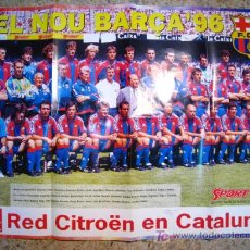 Coleccionismo deportivo: FC BARCELONA TEMPORADA 96/97 - POSTER DIARIO SPORT. Lote 17603140