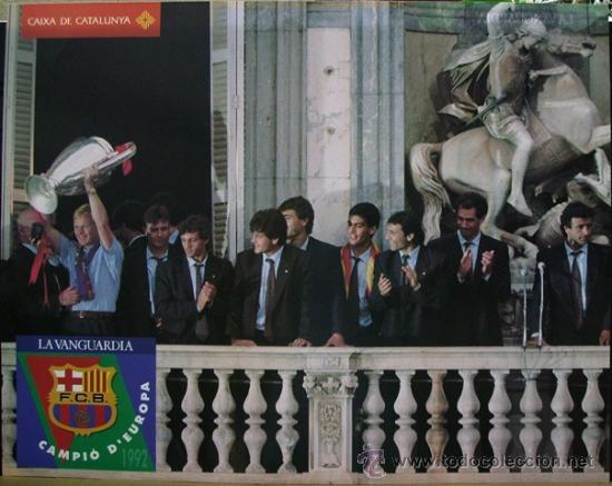 POSTER FC BARCELONA CAMPEÓN DE EUROPA 1992 GENERALITAT. IMPECABLE! (Coleccionismo Deportivo - Carteles de Fútbol)