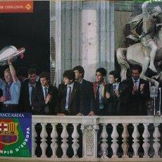Coleccionismo deportivo: POSTER FC BARCELONA CAMPEÓN DE EUROPA 1992 GENERALITAT. IMPECABLE!. Lote 18163767