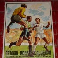 Coleccionismo deportivo: ANTIGUO CARTEL DE LA FINAL DE LA COPA DEL REY - BARCELONA ZARAGOZA - FUTBOL 1986 EN EL ESTADIO VICEN. Lote 25850307