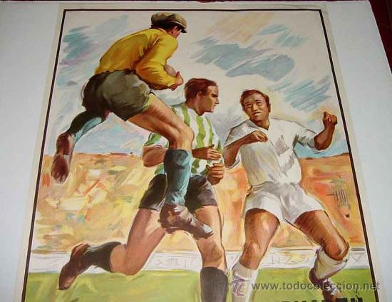 Coleccionismo deportivo: ANTIGUO CARTEL DE LA COPA DE LA UEFA SEMIFINAL ENTRE EL - REAL MADRID Y EL F.C. INTERNAZIONALE - FUT - Foto 3 - 110505682