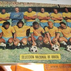 Coleccionismo deportivo: SELECCIÓN DE FÚTBOL DE BRASIL : PÓSTER DE 1974. Lote 26898449