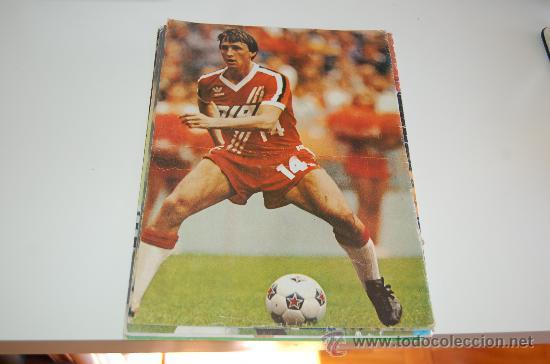 JOHAN CRUYFF: MINIPÓSTER DE 1982 (Coleccionismo Deportivo - Carteles de Fútbol)