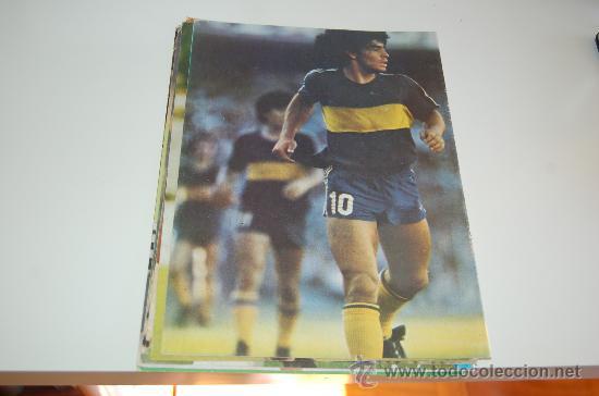 BOCA JUNIORS: MINIPÓSTER DE DIEGO ARMANDO MARADONA. 1982 (Coleccionismo Deportivo - Carteles de Fútbol)