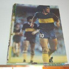 Coleccionismo deportivo: BOCA JUNIORS: MINIPÓSTER DE DIEGO ARMANDO MARADONA. 1982. Lote 19437892
