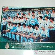 Coleccionismo deportivo: REAL MADRID: MINIPÓSTER DE LA TEMPORADA 89-90 ( PLANTILLA ). Lote 27483455