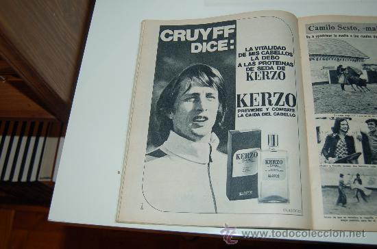 JOHAN CRUYFF: HOJA PUBLICITARIA DE 1974 (Coleccionismo Deportivo - Carteles de Fútbol)