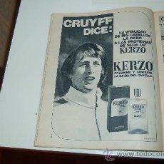 Coleccionismo deportivo: JOHAN CRUYFF: HOJA PUBLICITARIA DE 1974. Lote 27084919