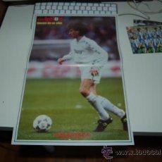 Coleccionismo deportivo: REAL MADRID: PÓSTER DE JOSÉ EMILIO AMAVISCA. 1995. Lote 27300242