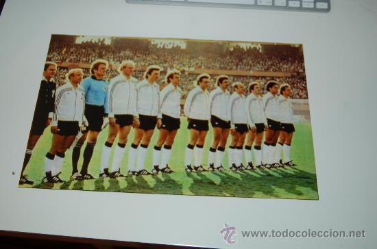 SELECCIÓN DE FÚTBOL DE LA RFA ( ALEMANIA ): MINIPÓSTER DE 1978 (Coleccionismo Deportivo - Carteles de Fútbol)