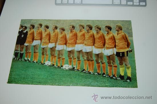 SELECCIÓN DE FÚTBOL DE HOLANDA: MINIPÓSTER DE 1978 (Coleccionismo Deportivo - Carteles de Fútbol)