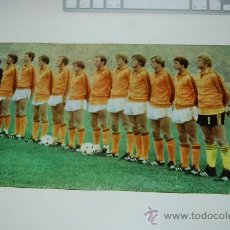 Coleccionismo deportivo: SELECCIÓN DE FÚTBOL DE HOLANDA: MINIPÓSTER DE 1978. Lote 25468540