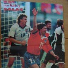 Coleccionismo deportivo: POSTER CHILE : SALAS - MUNDIAL FRANCIA 1998. Lote 23787400
