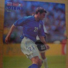 Coleccionismo deportivo: POSTER ITALIA : VIERI - MUNDIAL FRANCIA 1998. Lote 23787404