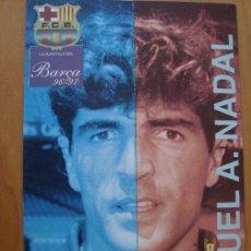 Coleccionismo deportivo - POSTER TRIPTICO : NADAL 1996/97 - 137319284