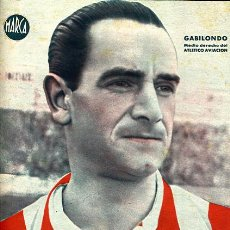 Coleccionismo deportivo: CARTEL FUTBOL ,LAMINA MARCA , GABILONDO , ATLETICO MADRID AVIACION , MA317. Lote 21092727